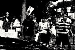 2019-06-11_09-28-10 (jumppoint5) Tags: together street people city urban contrast blackandwhite light shadow bnw