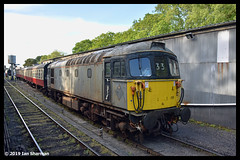 No 33110 22nd May 2019 Bodmin & Wenford Railway Bodmin General (Ian Sharman 1963) Tags: no 33110 22nd may 2019 bodmin wenford railway general class station diesel engine rail railways railfreight train trains loco locomotive heritage line 33 crompton