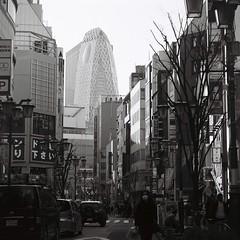 新宿 (Architecamera) Tags: blackwhite blackandwhite snap street shinjuku skyscraper architecture film