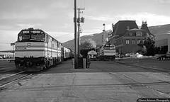Morning Connections (jamesbelmont) Tags: amtrak californiazephyr pioneer desertwind saltlakecity utah passenger unionpacific passengerstation gateway train railroad railway locomotive morning