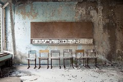 school, Prypjat. (maecces) Tags: lost urbex lostplace abandoned prypjat tschernobyl exlusionzone ukraine urbanexploration