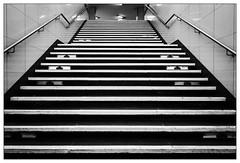 Up (frodul) Tags: architektur diagonale geländer gestaltung innenansicht konstruktion linie stair stairrail stairway step symmetrie treppe bw monochrom einfarbig sw berlin fehrbelliner platz stufe lines