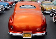 Custom orange car (mrgraphic2) Tags: indianapolis indiana car custom shiny orange licenseplate taillights window