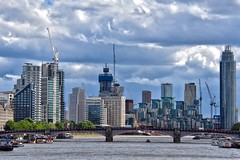 Skyline (Nige H (Thanks for 20m views)) Tags: london city cityscape landscape urban cranes river thames riverthames england