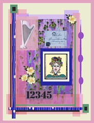 flowers and flute (ladybumblebee) Tags: digitalart digitalcollage layers contemporarywomenartists collage art