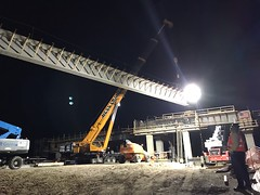 Girders going up on the new I-5/Berkeley Street overpass (WSDOT) Tags: bridgeconstruction girders lakewood interstate5