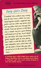 Signet Books 1316 - Edwin Fadiman, Jr - The Glass Playpen (back) (swallace99) Tags: signet vintage 50s paperback robertmaguire