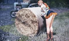 Damn job.. (Brenda Karu) Tags: sl secondlife slfashion slevent skirt eventsl fashionsl unik mesh maitreya miniskirts top ella event