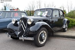 Citroën Traction (Monde-Auto Passion Photos) Tags: voiture vehicule auto automobile citroën traction berline noir black ancienne classique collection france courtenay rassemblement
