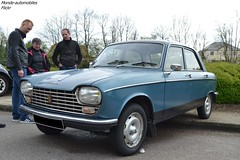 Peugeot 204 (Monde-Auto Passion Photos) Tags: voiture vehicule auto automobile peugeot 204 nerline bleu blue ancienne classique rare rareté collection france courtenay rassemblement