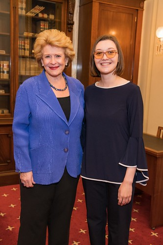 Senator Stabenow meets with Meghan Brody, a junior fellow at the Library of Congress from MI Link.