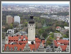 City Tower Leipzig - Der neue Rathausturm (Horst Erkrath) Tags: leipzig freistaatsachsen rathaus markt bahnhof riquet thomaskirche nikoaikirche löwenbrunnen goethe universität horst horstbostelmann horsterkrath ampelmännchen mädlerpassage panoramatower