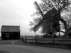 Schwarz-Weiß-Impressionen (Helmut44) Tags: deutschland germany sachsenanhalt sw windmühle mühle mill windmill fotografik einfarbig