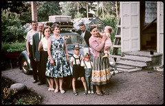 Family in Finland (Found Agfacolor slide) In the sixties. (iEagle2) Tags: family summer film finland vintage vw volkswagen sixties agfacolor slide