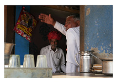 debating points (handheld-films) Tags: india chai conversation talk men talking street portraiture indiancafe culture people rajasthan traditional debate discussion