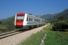 7 123 014  Kastel Stari  20.04.19 (w. + h. brutzer) Tags: kastelstari eisenbahn eisenbahnen train trains jugoslawien diesel railway triebzug triebwagen zug webru analog nikon vt