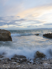 La Ola (Wave) (borjamuro) Tags: salou tarragona spain españa espana wave ola sea seascape landscape mar mediterraneo mediterranean atardecer sunset costa coast playa beach tokina nikon d7100 nature wild water agua