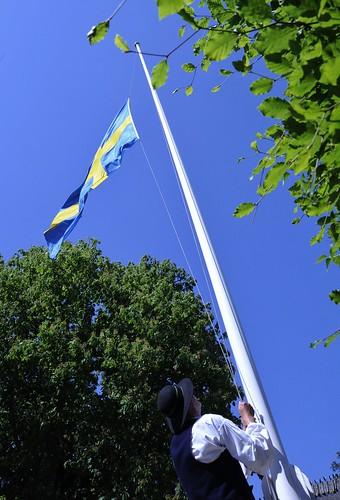 Flagghissning i blåst