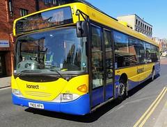 Konectbus 458 is on Castle Meadow after completing a journey on route 37a. - YN05 HFH - 1st April 2019 (Aaron Rhys Knight) Tags: konectbus 458 yn05hfh 2019 castlemeadow norwich norfolk goahead goeast scaniacn94ubomnicity