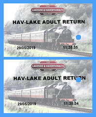 L&HRly Tickets copy (Steve Guess) Tags: lakeside haverthwaite steam heritage railway train ticket