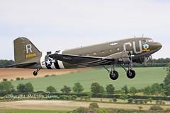 DOUGLAS DC3A N45366\42-68830 USAF (shanairpic) Tags: propliner dc3 c47 dakota duxford daksoverduxford normady