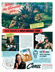t h e . t . z o n e (epiclectic) Tags: camel cigarettes tzone ad advertisement retro life magazine ephemera vintage smoking