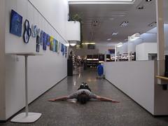 FDT #324 (at an art exhibition) (Elektrojänis) Tags: facedowntuesday facedown fdt artexhibition library