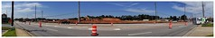 Powers Ferry Road Panorama   Marketplace Terrell Mill construction interfering with traffic (steveartist) Tags: panorama sonydscwx220 snapseed powersferryroad safetybarrels road constructionsite sky clouds powerpoles fedextruck cars trucks photostevefrenkel