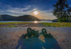 Chain (Oliver Weihrauch) Tags: sunset see germany chain lake picoftheday sun adventureculture seebrugg schluchsee visitgermany blackforest instatravel fernweh travelforlife wanderlust schwarzwald