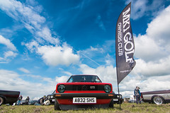 (Chris B70D) Tags: tayside classic car club carshow sunday weekend errol airfield scotland sunny couds canon 70d tokina 1116 ultrawide ultra wide angle lens panorama cars vw mk1 golf owners caddy volkswagen low custom retro slammed stance stretch performance scene dubs gti diesel petrol