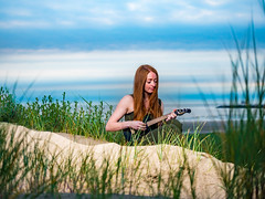 Little mermaid (HetSpul) Tags: photoshoot ijmuiden beach strand panasonic lumix 35100 28 gx8 redhead