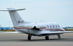 Beech 400   SP-ATT   AMS   20190602 (Wally.H) Tags: beechcraft beech400 beechjet be400 hawker400xp spatt ams eham amsterdam schiphol airport