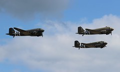 Daks Over Duxford (R.K.C. Photography) Tags: aircraft aviation douglas warbirds n147dc 2100884 292847 n74589 315087 n47tb placidlassie thatsallbrother daksovernormandy daksoverduxford uk unitedkingdom airshow duxford skytrain dc3 dakota c47 iwm usaaf c47a canoneos100d dday75 ddaysquadron