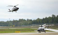 Norwegian Police LN-ORA + LN-ORB, OSL ENGM Gardermoen (Inger Bjørndal Foss) Tags: lnora lnorb norwegian police augustawestland aw169 osl engm gardermoen