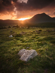 Sunset at Saint-Aubin. (Franck MAILLET Photographie) Tags: sunset volcanoe mountains tree photopills auvergne tourisme landscape puydedome apca gfx50s fujifilm clouds nisi filters hanhemuhle epson