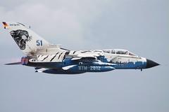 The stunning ice tiger German AF Tornado from AKG-51. (scobie56) Tags: panavia tornado ids 4585 akg51 immelmann schleswig jagel luftwaffe german air force riat fairford