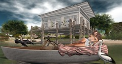 snuggle boat (nicandralaval1) Tags: nerido chezmoi chezmoifurniture redgravehomes exile tlc 7deadlys{k}ins empire amias fashion secondlife secondlifefashion flickr bento mesh codex jerseyshore whimberly lelutka maitreya