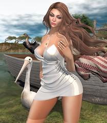 snuggle boat (nicandralaval1) Tags: secondlife secondlifefashion fashion amias nerido 7deadlys{k}ins chezmoi tlc flickr maitreya lelutka bento mesh water exile codex