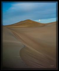 Mesquite Dunes Moonrise (cwaynefox) Tags: deathvalley deathvalleynationalpark moon moonrise openedition usa unitedstates california dunes fullmoon gallery mesquitedune sand sanddunes