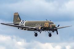 Betsy's biscuit Bomber (nickym6274) Tags: imperialwarmuseumduxford iwm duxford cambridgeshire uk 75thanniversary daksoverduxford douglasdakota dakota c47 dc3 normandy aeroplane aircraft dday75 betsysbiscuitbomber n47sj usa