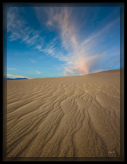 Sand and Sky (cwaynefox) Tags: deathvalley deathvalleynationalpark limitededition openedition usa unitedstates california cloud desert gallery landscape mesquitedune sand sanddunes scenic sky