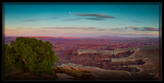 Moon Over Grand View (cwaynefox) Tags: canyonlandsnationalpark grandview limitededition moon moonrise southwest usa unitedstates canyon canyonlands fineart fullmoon gallery landscape moab panorama scenic utah