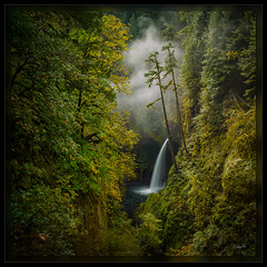 Secret Falls (cwaynefox) Tags: columbiarivergorge limitededition metlakofalls oregon usa unitedstates waterfall fineart fog gallery landscape scenic