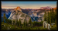 Half Dome Sunset (cwaynefox) Tags: halfdome limitededition mountain usa unitedstates yosemitenationalpark california yosemite