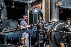 Steam locomotive (Guy Goetzinger) Tags: nikon d850 goetzinger steamtrain lok train steam brugg depot zug sbb switzerland historic