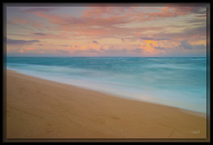 Sand and Sea (cwaynefox) Tags: coconutbeach gardenisle hawaii kauai limitededition usa unitedstates beach courtyardbymarriott fineart landscape ocean sand scenic sunset