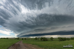 Hammond Shelf Cloud (kevin-palmer) Tags: june spring montana nikond750 storm stormy thunderstorm weather sky clouds severe shelfcloud unpaved road hammond green grass evening sigma14mmf18 supercell
