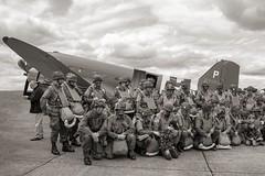 Paratroopers (nickym6274) Tags: imperialwarmuseumduxford iwm duxford cambridgeshire uk 75thanniversary daksoverduxford douglasdakota dakota c47 dc3 normandy aeroplane aircraft dday75 paratroopers rendezvouswithdestiny 315087 101stairbornedivision usa