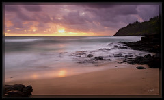 Morning Reflection (cwaynefox) Tags: gardenisle hawaii kauai kilaueabay openedition usa unitedstates fineart gallery landscape ocean scenic smoothwater sunrise