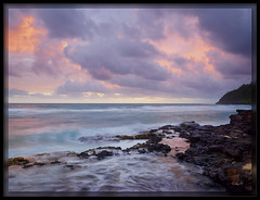Kilauea Bay Sunrise (cwaynefox) Tags: gardenisle hawaii kauai kilaueabay limitededition usa unitedstates fineart gallery landscape ocean scenic smoothwater sunrise